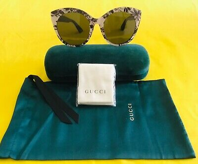 a895bb21b5 GUCCI Women s GG0028SA 009 54-22-145 Floral Designer Sunglasses Made In  Italy