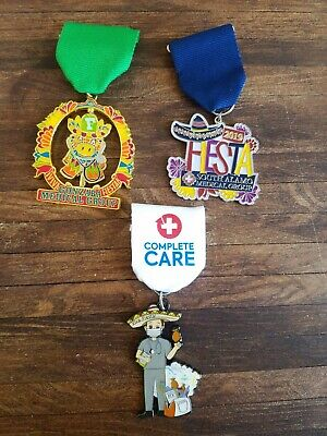 Lot Of 3 2019 Fiesta Medals Complete Care, Gonzaba, South Alamo