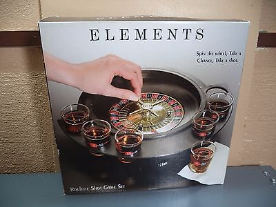 Elements Roulette Alcohol Shot Glass Drinking Game NIB Social Bachelor Party Wow