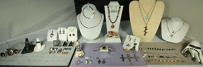 STERLING/GEMSTONE Jewelry Lot 50pcs TAXCO NAVAJO POLLACK BARSE ITALY 1800s-NWT