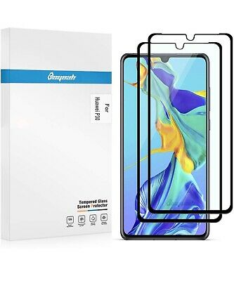 Beyeah Pack of 2 Screen Protector for Huawei P30 Tempered Glass Film Full-cover