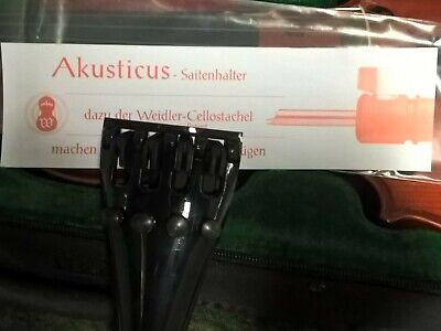 Akusticus 'New Design' high quality CELLO 4/4 tailpiece c/w gut-wire loop