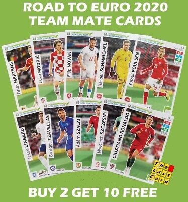 Panini Uefa Road To Euro 2020 Team Mate Cards Adrenalyn Xl - Buy 2 Get 10 Free !