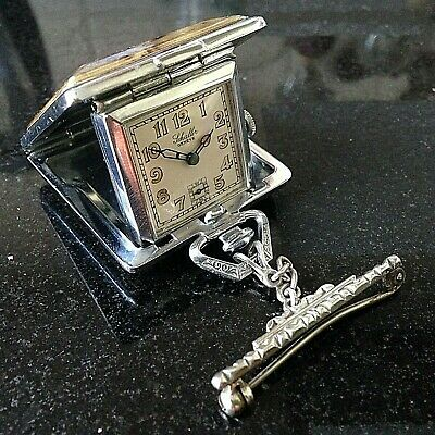 AN ORIGINAL 1930's ART DECO LADIES' PENDANT DRESS WATCH - MODERNIST JEWELLERY
