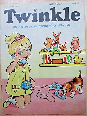 TWINKLE COMIC - 14th JUNE 1969 (14th - 20th) - RARE LADY'S 50th BIRTHDAY GIFT!!