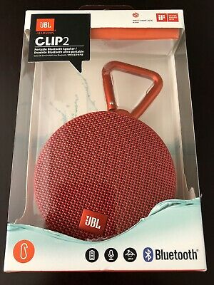 New JBL Clip 2 Portable Bluetooth Wireless Speaker Waterproof - RED