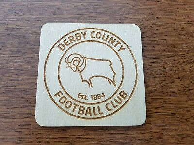 Derby county fc , laser engraved coaster, gift idea