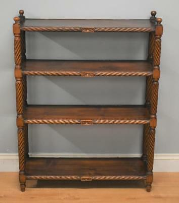 Mahogany Freestanding Open Bookshelves
