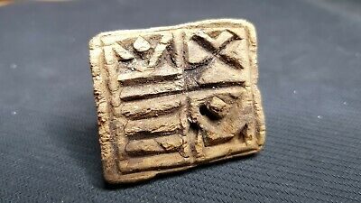 BYZANTINE WOODED HANDCRAFTED BREAD STAMP - SEAL 3rd - 6th CENTURY AD