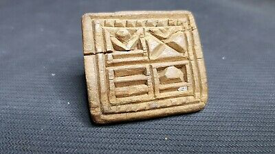 BYZANTINE WOODED HANDCRAFTED BREAD STAMP - SEAL 8th - 11th CENTURY AD RARE COND.