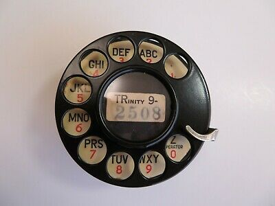 Western Electric telephone  1937 #4  dial with celluloid plate