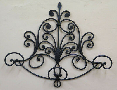 Coat Hangers Wall Vintage Wrought Iron Forged Hand 3 Hooks Ch