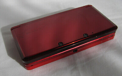 Nintendo 3DS Handheld System - Flame Red. Used, Region Free. Repaired.