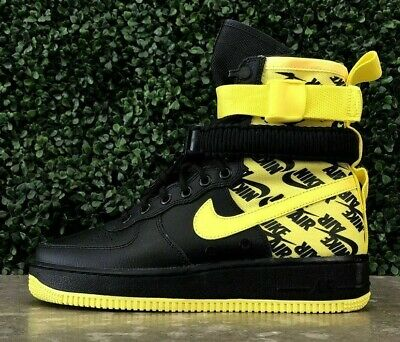 promo code a65a0 11da4 NEW Nike SF AF1 Air Force One High AR1955-001 Dynamic Yellow Black Mens
