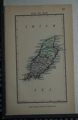 1885  Antique Original Stanford's Parliamentary Map of the Isle of Man