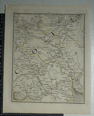 1794 - John Cary Map 66 - Parts of Ayrshire,Dumfries, Kircudbright