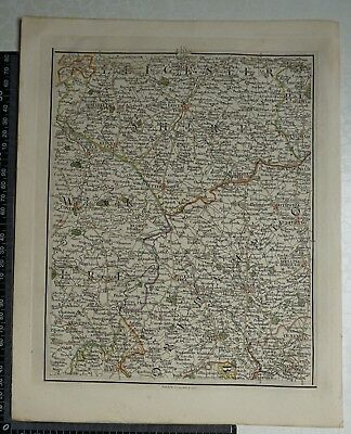 1794 - John Cary Map 33 - Leicestershire,Northants,Warwickshire,Bedfordfordshire
