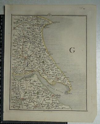 1794 - John Cary Map 52 - Parts of Yorkshire, Lincolnshire