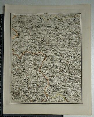 1794 - John Cary Map 50 - Parts of Lancashire, Yorkshire