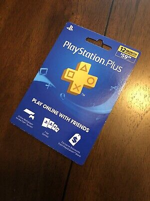 Sony PlayStation Plus 12 Month Subscription Membership Card SHIPS FAST