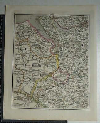 1794 - John Cary Map 40 - Parts of Cheshire,Flint,Denbighshire,Shropshire,Lancs