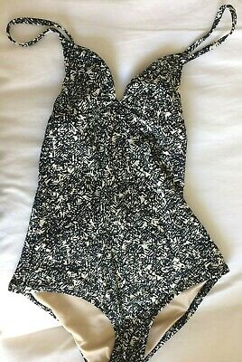 ef6d8333fc5a3 Madewell Tanksuit Swim Swimsuit One-Piece 1937 Scribble Print Size 0 XS  Graphic