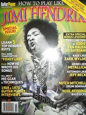 JIMI HENDRIX how to play GUITAR PLAYER SPECIAL gear & techniques TOP 5 RIFFS