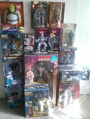 Lot Of14 Assorted Collectibles Dc,marvel,universal, Kenner & Others.13 New 1 Opn