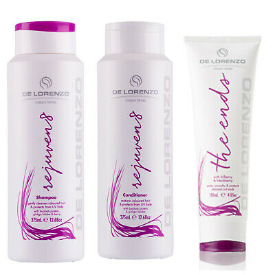 De Lorenzo Rejuven8 Shampoo & Conditioner 375ml & The Ends 120ml TRIO