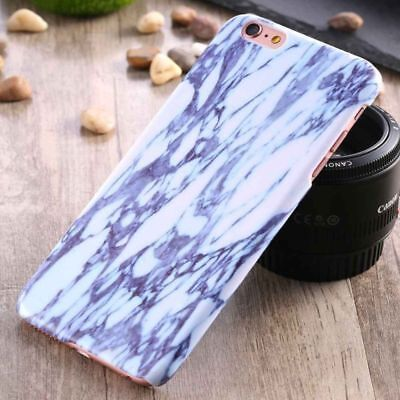 For iPhone 6 Plus/6s Plus Shockproof Ultra Thin Slim Hard Marble Blue Case Cover