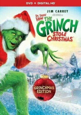 Dr. Seuss' How The Grinch Stole Christmas DVD, NEW Jim Carrey