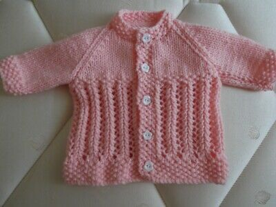 Hand Knitted Dolls Clothes - Baby Born Or Similar - New