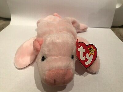 93dec15a6a9 SQUEALER TY BEANIE Baby the Pig 1993 RARE with sewing errors ...