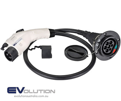 Electric Vehicle EV Charging – Type 2 to Type 1 Adaptor for tethered EVSEs