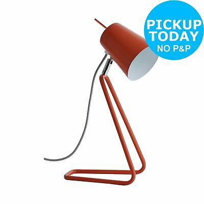 Habitat Lizzie Orange Desk Light
