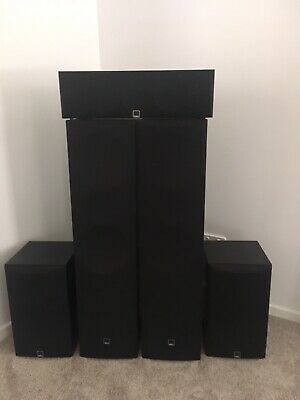Dali Blue Speakers And Onkyo Amplifier