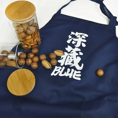 Unisex Lady Men Apron Japanese Cotton Work Suit Kitchen Bib with Pocket Faddish