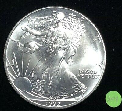 1992 American Silver Eagle BU 1 oz US $1 Dollar U.S. Mint Uncirculated Brilliant