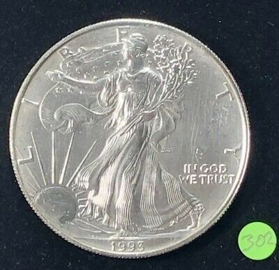 1993 Silver American Eagle BU 1 oz US $1 Dollar U.S. Mint Brilliant Uncirculated