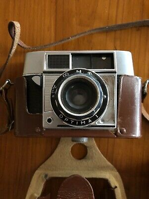 Old Camera Optima 1 Includes Case And 2 Flashes made In Germany Retro