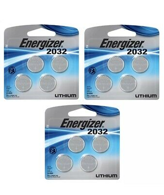 Pack of 3 Energizer Watch/Electronic/Specialty Battery, 2032, 3V, 4/Pack, Cr2032