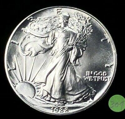 1988 Silver American Eagle BU 1 oz Coin $1 Dollar Brilliant Uncirculated  U.S.