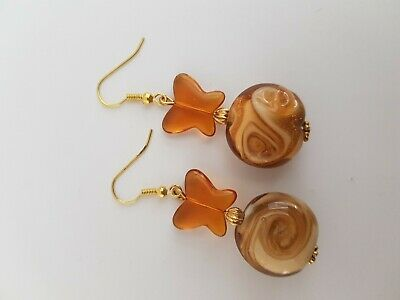 Caramel Beaded Earrings