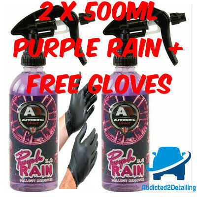 Autobrite Direct 2X500Ml Purple Rain 3.0 Gel Fallout Remover Alloy Wheel Cleaner