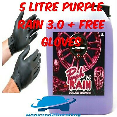 Autobrite Direct 5 Litre Purple Rain 3.0 New Gel Fallout Remover Wheel Cleaner