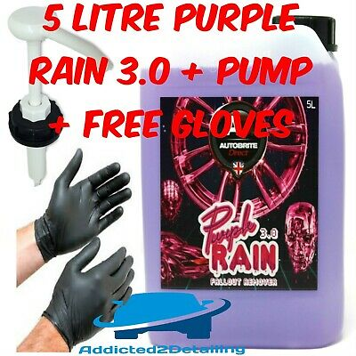 Autobrite Direct 5 Litre Purple Rain 3.0 New Fallout Remover Wheel Cleaner+Pump