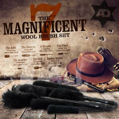 Autobrite Direct The Magnificent 7 Seven Wheel Woolies Wands Brushes Set+Gloves