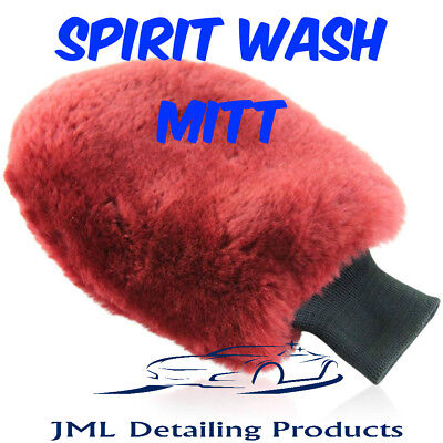 "Autobrite Direct The Spirit Non Thumbed Wash Mitt Luxuorious 1"" Wool Pile"