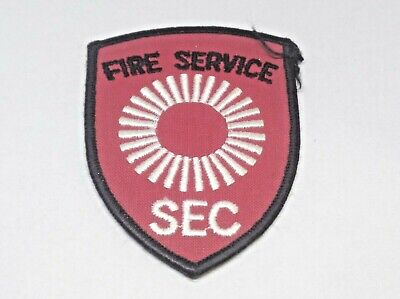 Rare & Hard To Find Collectable Fire Service Sec  Patch / Badge