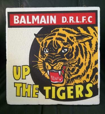 Vintage Rugby League BALMAIN DRLFC SUPPORTERS WALL PLAQUE. Tigers, c1960-70s